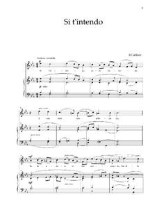 Si t'intendo: For tenor and piano by Antonio Caldara