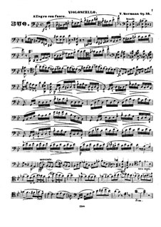 Grand Brilliant Duo for Violin and Cello, Op.12: Cello part by Friedrich Hermann