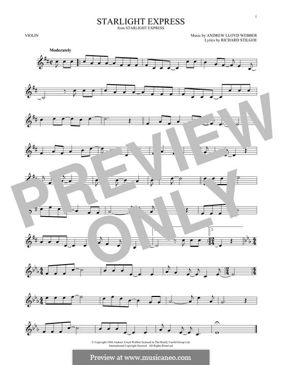 Starlight Express: For violin by Andrew Lloyd Webber