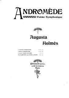 Andromède. Symphonic Poem: Arrangement for piano four hands – parts by Augusta Mary Anne Holmès