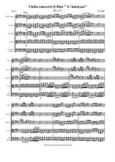 Violin concerto E-Dur L'Amoroso, RV 271: Violin concerto E-Dur L'Amoroso by Antonio Vivaldi