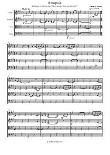 Amapola (Pretty Little Poppy): For string quartet by Joseph M. Lacalle