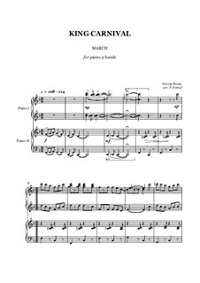 King Carnival March - piano 4 hands: King Carnival March - piano 4 hands by George Rosey