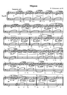 No.35 Mignon: For piano by Robert Schumann