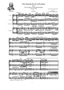 Trio Sonata No.8 in D minor for Two Violins, Cello and Cembalo, RV 64: Trio Sonata No.8 in D minor for Two Violins, Cello and Cembalo by Antonio Vivaldi