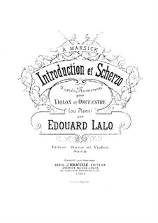 Namouna. Ballet: Introduction and Scherzo, for violin and piano by Édouard Lalo