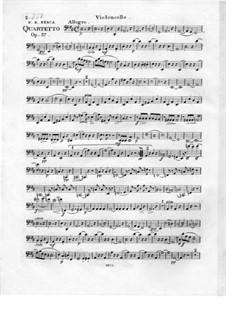 Quartet Brilliant No.1 for Flute, Violin, Viola and Cello, Op.37: Cello part by Friedrich Fesca