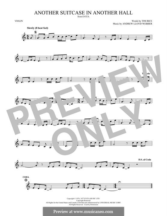 Another Suitcase in Another Hall: For violin by Andrew Lloyd Webber