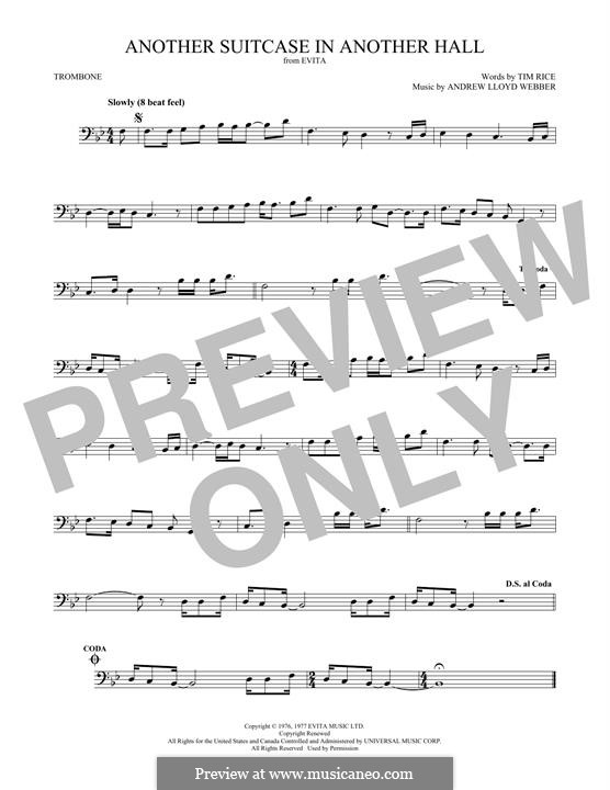 Another Suitcase in Another Hall: For trombone by Andrew Lloyd Webber