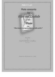 Flute Concerto in G Major: Version for flute and cembalo (or piano) by Giovanni Battista Pergolesi