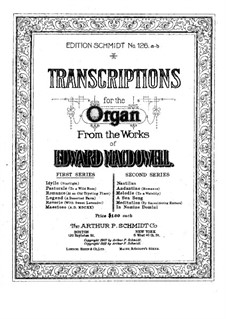 Selected Pieces, for Organ: Selected Pieces, for Organ by Edward MacDowell