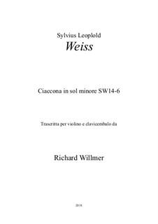 Ciaccona in g minor, SW 14-6 (Op.12): Ciaccona in g minor by Silvius Leopold Weiss