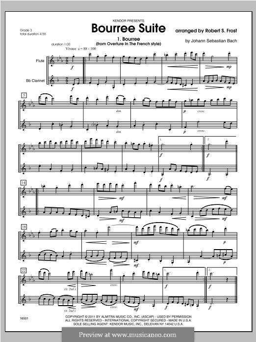 Bourree Suite: Bourree Suite by Robert S. Frost