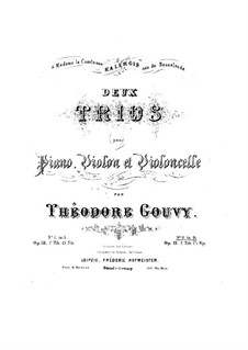 Piano Trio No.3 in B Flat Major, Op.19: Parts by Louis Théodore Gouvy