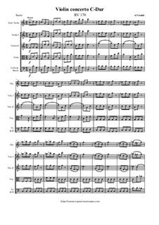 Violin concerto C-Dur, RV 170: Violin concerto C-Dur by Antonio Vivaldi