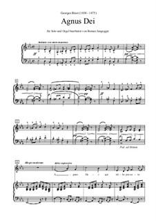 Agnus Dei: Solo und Orgel (oder Klavier), Es-Dur by Georges Bizet