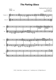 The Parting Glass: Duet for C-trumpet and french horn by folklore