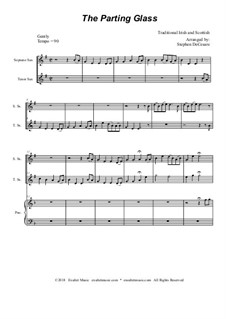The Parting Glass: Duet for soprano and tenor saxophone by folklore