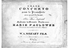 Concerto for Piano and Orchestra No.2 in E Flat Major, Op.25: Arrangement for piano by Franz Xaver Wolfgang Mozart