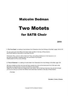 Two Motets, MMC21: Two Motets by Malcolm Dedman
