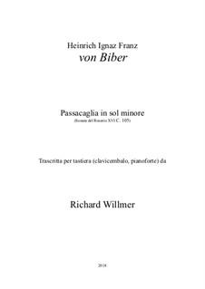 Passacaglia in g minor, C.105: For piano, Op.14 by Heinrich Ignaz von Biber