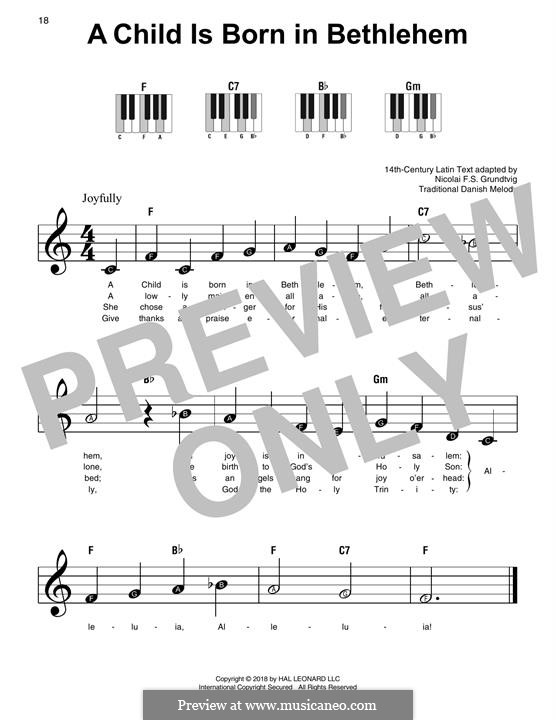 A Child Is Born in Bethlehem: For easy piano by folklore