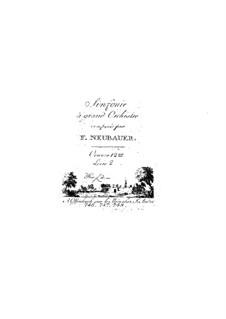 Symphonies for Orchestra, Op.12: Volume II – parts by Franz Christoph Neubauer