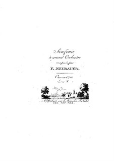 Symphonies for Orchestra, Op.12: Volume III – strings parts by Franz Christoph Neubauer