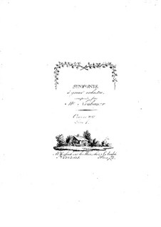 Symphonies for Orchestra, Op.8: Volume I – parts by Franz Christoph Neubauer