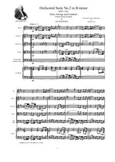 Orchestral Suite No.2 in B Minor, BWV 1067: Full score, parts by Johann Sebastian Bach