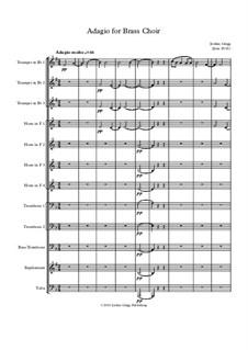 Adagio for Brass Choir: Adagio for Brass Choir by Jordan Grigg
