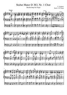 Stabat Mater in F Minor, D.383: Nr.1, for organ by Franz Schubert
