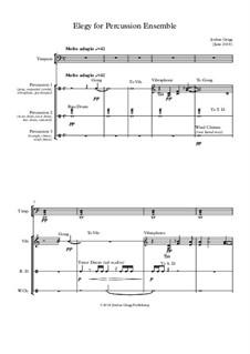 Elegy for Percussion Ensemble: Elegy for Percussion Ensemble by Jordan Grigg