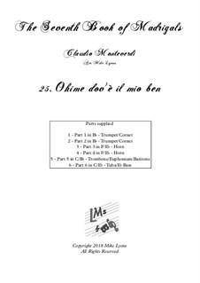 Book 7 (Concerto), SV 117–145: No.25 Ohimè, dov'è il mio ben by Claudio Monteverdi