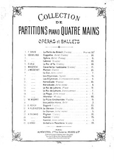 Werther: Acts I-II. Arrangement for piano four hands by Jules Massenet