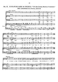 Rip Van Winkle: Movement II. Arrangement for voices and piano by Robert Planquette