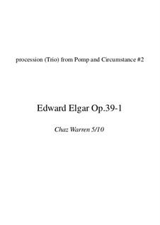 March No.2: For brass quintet (chop friendly version) by Edward Elgar