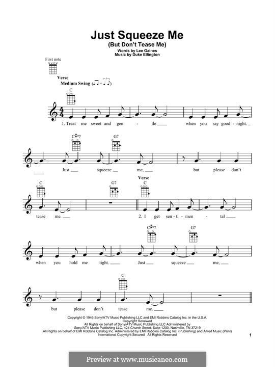 Just Squeeze Me (But Don't Tease Me): For ukulele by Lee Gaines
