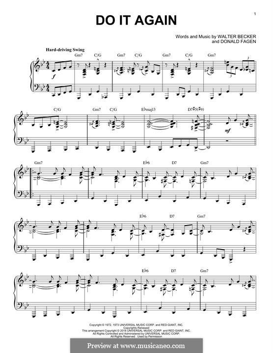 Do It Again (Steely Dan): For piano by Donald Fagen, Walter Becker