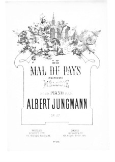 Longing for Home, Op.117: For piano by Albert Jungmann