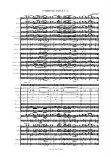 Symphonic Dance No.1: Symphonic Dance No.1 by Jordan Grigg