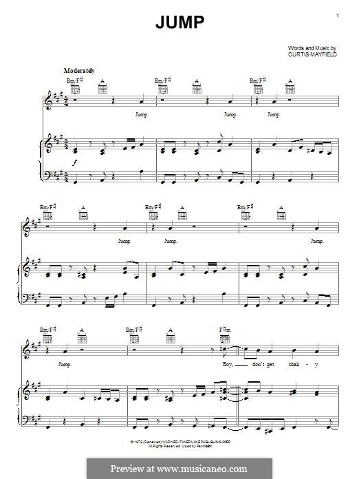 Jump: For voice and piano (or guitar) by Curtis Mayfield
