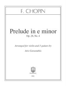 No.4 in E Minor: For violin and three guitars by Frédéric Chopin