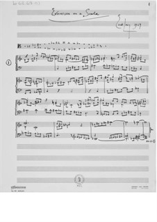 Exercises on a Scale: For piano by Ernst Levy
