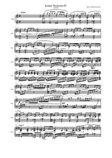 Ionian Nocturne No.4 pdf score: Ionian Nocturne No.4 pdf score by Spiros Deligiannopoulos