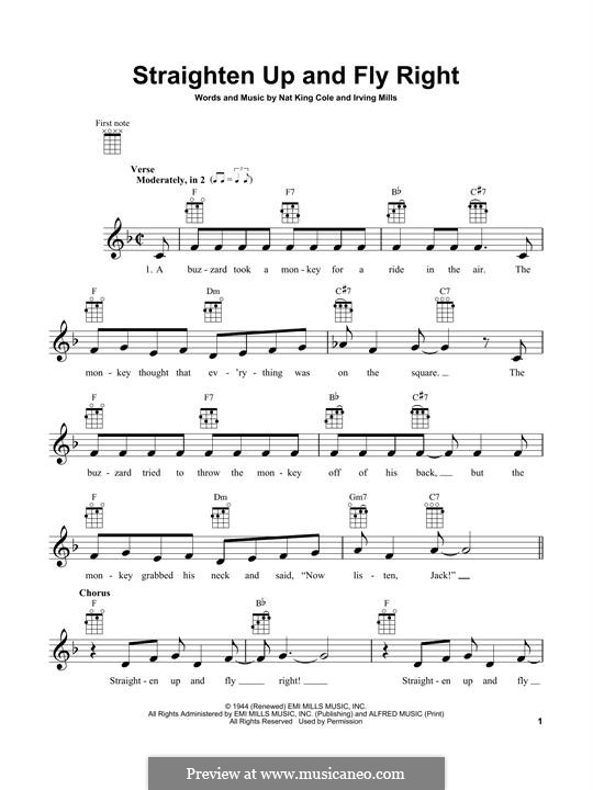 Straighten Up and Fly Right (Diana Krall): For ukulele by Irving Mills