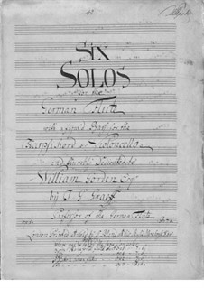Six Sonatas for Flute and Basso Continuo, Op.5: Six Sonatas for Flute and Basso Continuo by Johann Georg Graeff