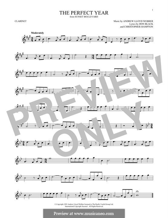 The Perfect Year: For clarinet by Andrew Lloyd Webber