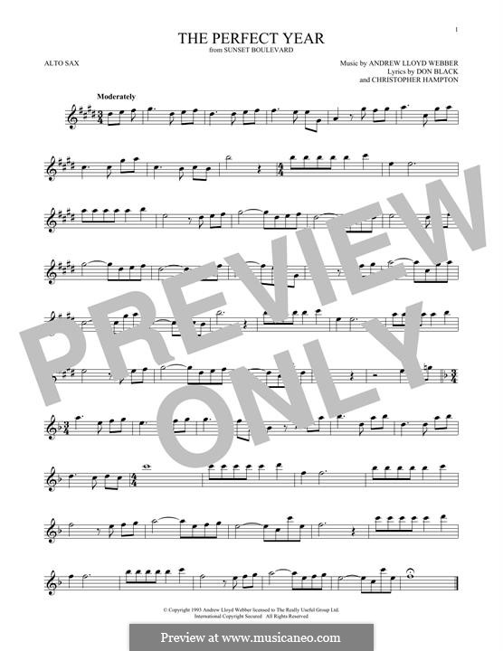 The Perfect Year: For alto saxophone by Andrew Lloyd Webber