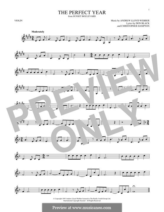 The Perfect Year: For violin by Andrew Lloyd Webber